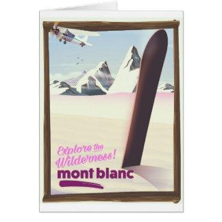 den Mont Blanc snowboardingen reser affischen Hälsningskort
