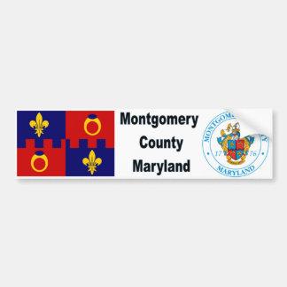 Den Montgomery County MD-flagga och förseglar Bildekal