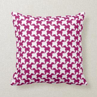 Den mörka rosa fauxen Houndstooth väljer färg Kudde