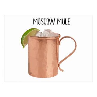 Den Moscow mulen förkopprar Poly geometrisk design Vykort