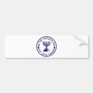 Den Mossad (הַמוֹסָד) logotypen förseglar Bildekal