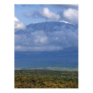 Den Mount Kilimanjaro Tanzania landmarken landskap Vykort