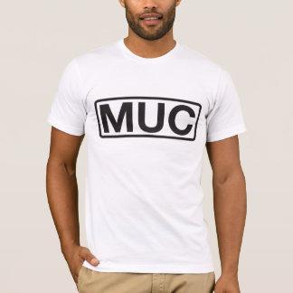 Den Munich flygplatsen kodifierar T-tröja T-shirts