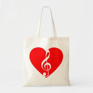 Den musikaliska hjärtatotot hänger lös tygkasse