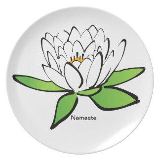 Den Namaste lotusblommablomman pläterar Tallrik