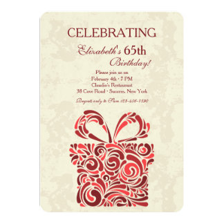 Den närvarande födelsedagsfest inbjudan