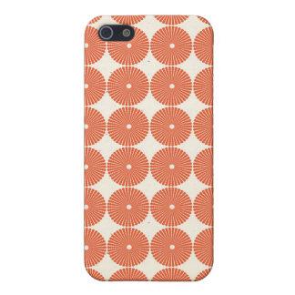 Den nätt orange melonen cirklar det texturerade iPhone 5 hud