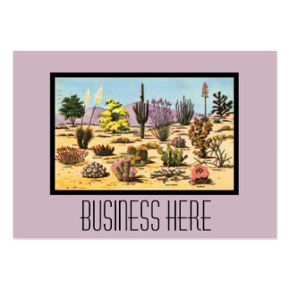 Den nätt Retro kaktusen kartlägger den flickaktigt Visitkort Mallar