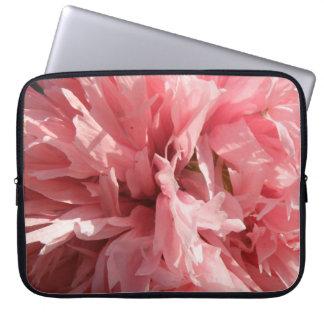 Den nätt rosa vallmobärbar dator hänger lös laptop sleeve
