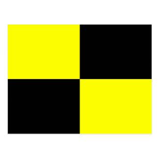 Den nautiska alfabetflagga signalerar brev L Vykort