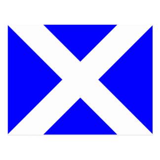 Den nautiska alfabetflagga signalerar brev M Vykort