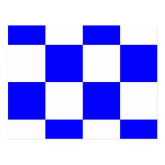Den nautiska alfabetflagga signalerar brev N Vykort