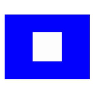 Den nautiska alfabetflagga signalerar brev P Vykort