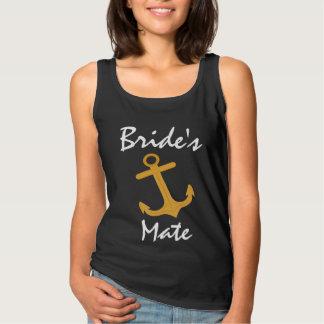 Den nautiska brudtärnabröllopbrudens sida ankrar linne