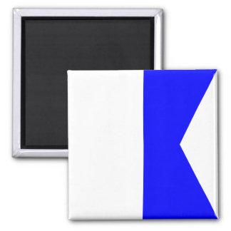 Den nautiska flagga signalerar brev A