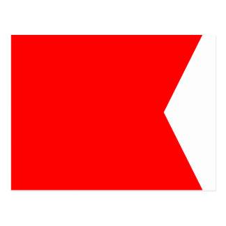 Den nautiska flagga signalerar brev B (bravoen) Vykort