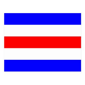 Den nautiska flagga signalerar brev C Charlie Vykort