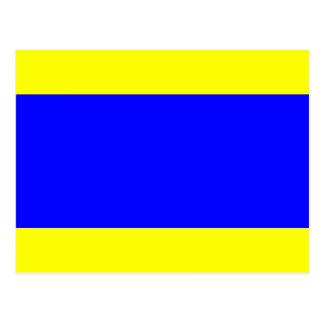 Den nautiska flagga signalerar brev D deltan Vykort