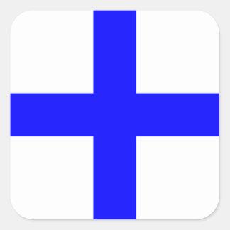 Den nautiska flagga signalerar brev X Fyrkantigt Klistermärke