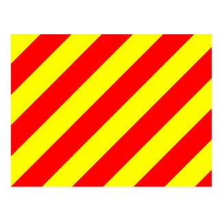 Den nautiska flagga signalerar brev Y yankeen Vykort
