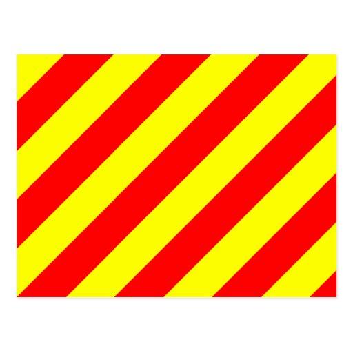 Den nautiska flagga signalerar brev Y (yankeen) Vykort