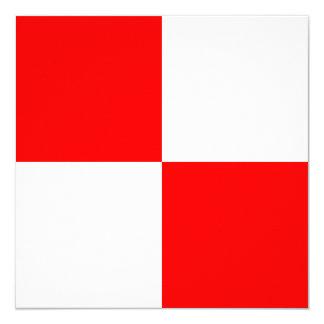 Den nautiska flagga signalerar enhetligt brev U Fyrkantigt 13,3 Cm Inbjudningskort