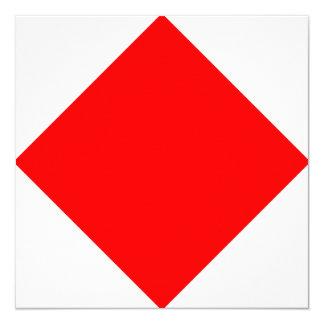 Den nautiska flagga signalerar Foxtrot brev F Fyrkantigt 13,3 Cm Inbjudningskort