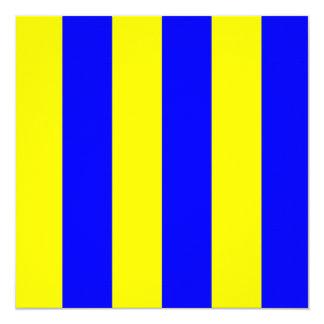 Den nautiska flagga signalerar GolfbrevG Fyrkantigt 13,3 Cm Inbjudningskort