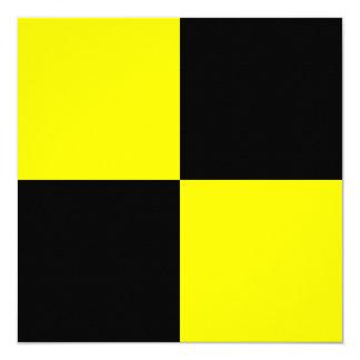 Den nautiska flagga signalerar Lima brev L Fyrkantigt 13,3 Cm Inbjudningskort