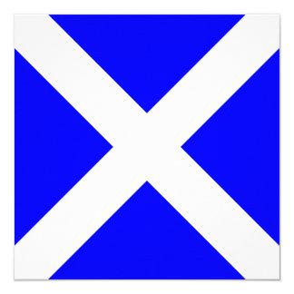 Den nautiska flagga signalerar Mike brev M Fyrkantigt 13,3 Cm Inbjudningskort