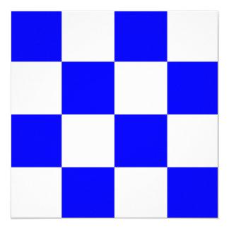 Den nautiska flagga signalerar November brev N Fyrkantigt 13,3 Cm Inbjudningskort