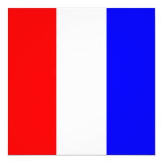 Den nautiska flagga signalerar Tangobrev T Fyrkantigt 13,3 Cm Inbjudningskort