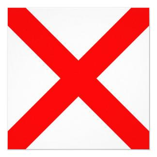 Den nautiska flagga signalerar Victorbrev V Fyrkantigt 13,3 Cm Inbjudningskort