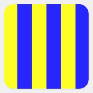 Den nautiska flottan signalerar flaggabrevG (Golf) Fyrkantigt Klistermärke