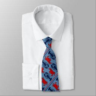 Den nautiska krabban och hummer slösar diagonalen slips