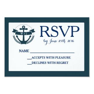 Den nautiska marinen ankrar bröllop OSAkortet 8,9 X 12,7 Cm Inbjudningskort