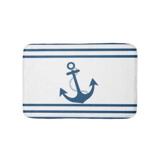 Den nautiska randen med ankrar badrumsmatta