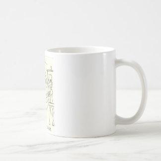 Den neurotiska ugglan omfamnar Cubism Kaffemugg