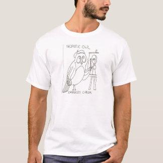 Den neurotiska ugglan omfamnar Cubism T Shirt