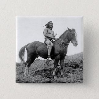 Den Nez Perce krigare knäppas Standard Kanpp Fyrkantig 5.1 Cm