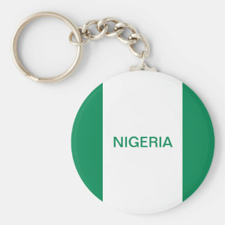 Den Nigeria flagga knäppas Keychain Rund Nyckelring