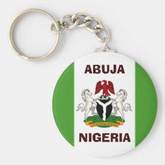 den nigeria flagga kopierar, Nigeria_coa, NIGERIA, Rund Nyckelring
