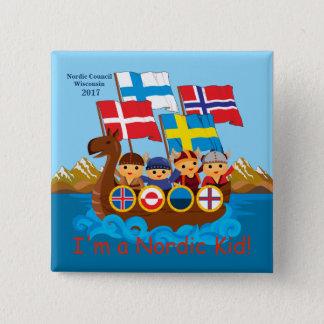 Den nordiska ungen knäppas 2017 standard kanpp fyrkantig 5.1 cm