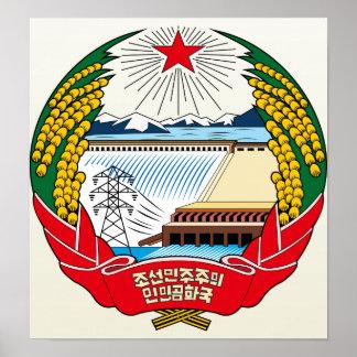 Den Nordkorea vapenskölden specificerar Poster