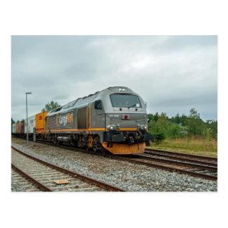Den norska dieseln hauled containertrain vykort