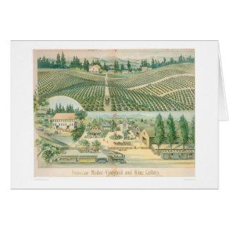 Den Nouveau Medoc vingården och vin förvara i Hälsningskort