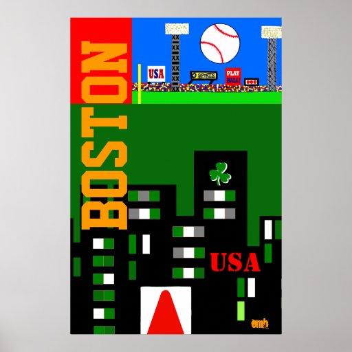 Den nya Boston konstaffischen 2013 lurar sportgåva Affisch
