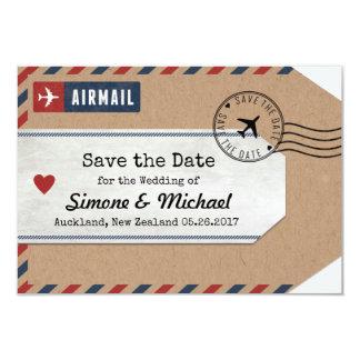 Den nyazeeländska sparan för flygpostbagagemärkre 8,9 x 12,7 cm inbjudningskort