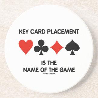 Den nyckel- kortplaceringen är namn av leken underlägg sandsten