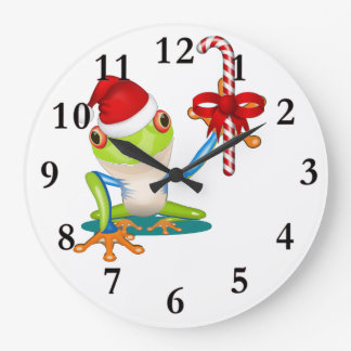 Den nyckfulla julen groda och candy caneväggen tar stor klocka